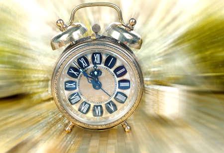 elapsed: Close up on vintage clock Stock Photo