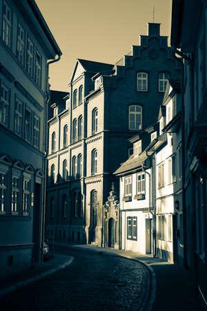 narrow street in Erfurt, Germany photo