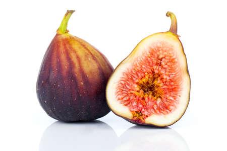purple fig: fresh figs on a white