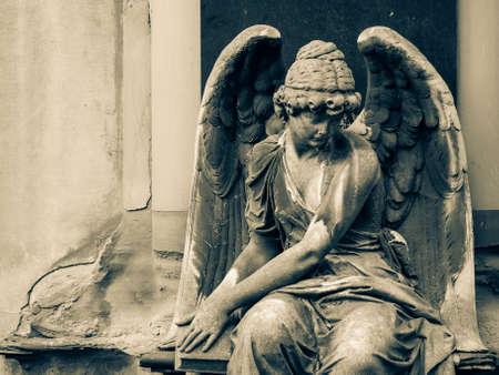 angel cemetery: Angel statue on Cemetery in Europe
