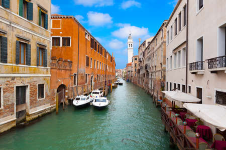 Venice cityscape, narrow water canal and traditional buildings  Italy, Europe  photo