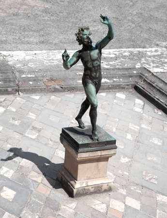 Dancing Faun statue, House of the Faun, Pompeii