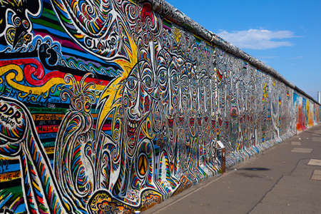Berlin Wall, Berlin Germany   the largest outdoor art gallery in the world on a segment of the Berlin Wall  Editorial
