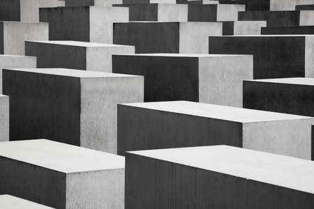 september 2: The Memorial to the Murdered Jews of Europe on September in Berlin, Germany  The site contains 2,711 concrete slabs and was designed by Peter Eisenman and Buro Happold