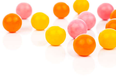 gumballs: Colorful Gumballs  isolated over white background
