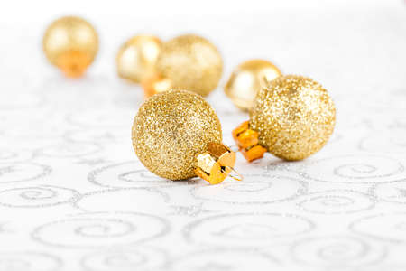 golden christmas bauble photo