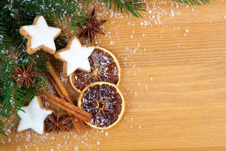 Christmas cookies with festive decoration photo