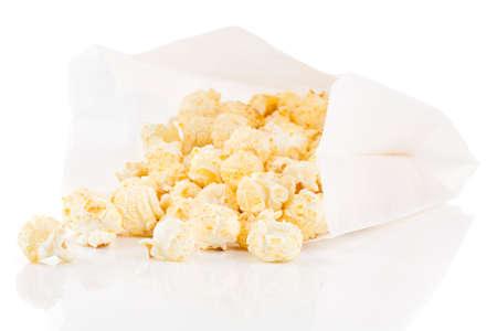 popcorn bowls: Popcorn bag on white background