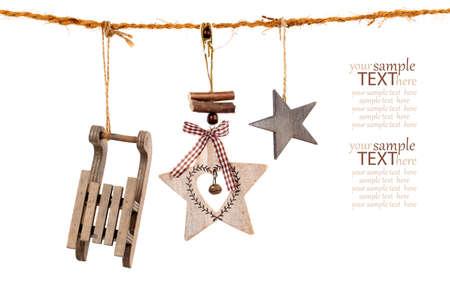 Christmas decoration isolated over white background photo