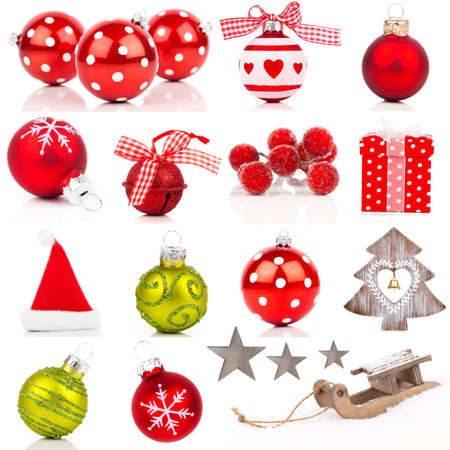 Christmas design elements collection isolated on white photo