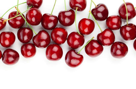 sour cherry: Sweet cherry, isolated on white background