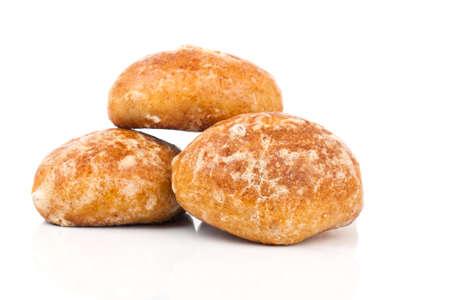 spicecake: Honey-cakes on white background Stock Photo