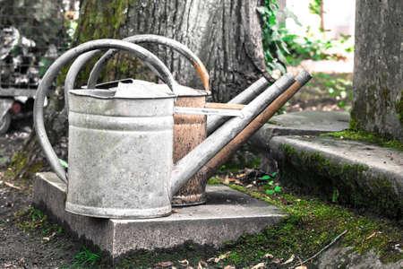 oxidado: vieja regadera