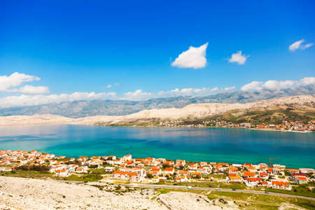 croatia: Adriatic beach in Pag, Croatia.