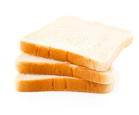 白い背景のトースター パン 写真素材