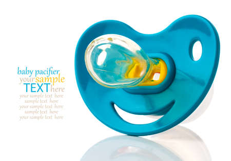 baby silicone pacifier, isolated on white background Stock Photo