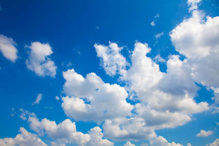 Blue sky with white clouds. 写真素材