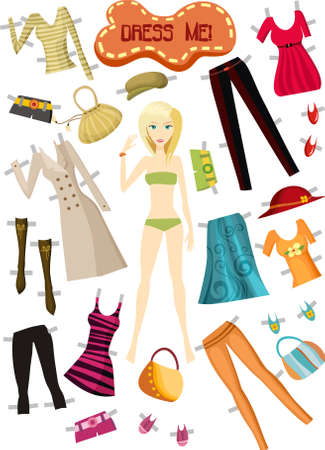 closets: clothes Illustration