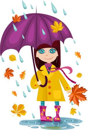 automne girl  Vecteurs