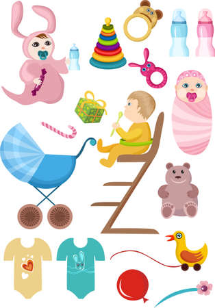 baby set Stock Vector - 5698373