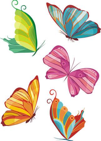 butterfly flower: butterflies Illustration
