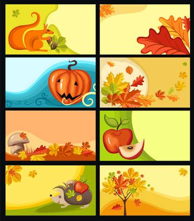 raw potato: autumn cards