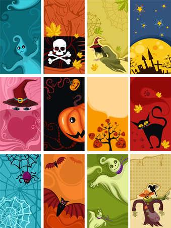 bonnet illustration: halloween cards