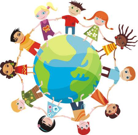 children of the world Illustration