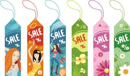 etiquetas de ropa:   conjunto de descuento Vectores