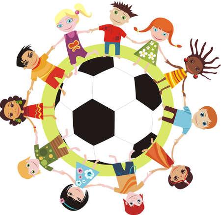 footbal: children of the world Illustration