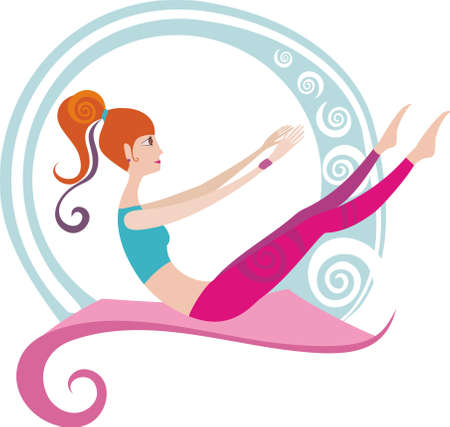 women yoga: pilates Illustration