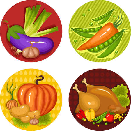 set di icone un thankgiving