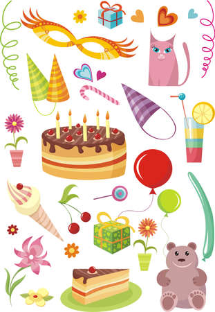 birthday set Stock Vector - 5804708