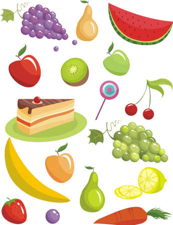 sugarplum: fruits Illustration