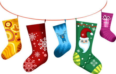 christmas sock: christmas stocking Illustration