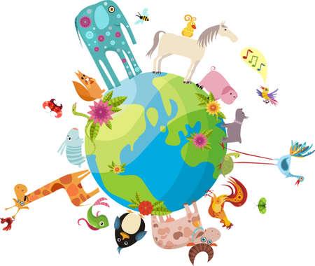 animals planet Vector