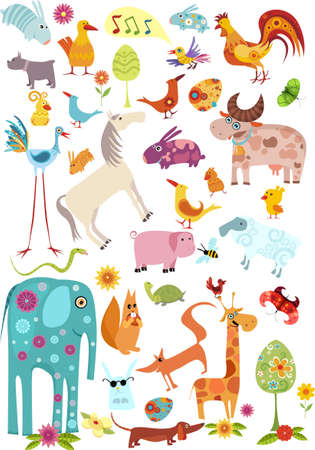 animals and pets: animals set