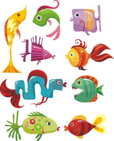 submarine: fish set
