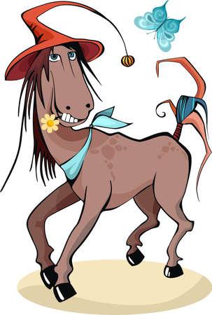 pony tail: horse