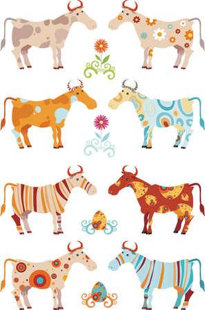lea: cow set Illustration