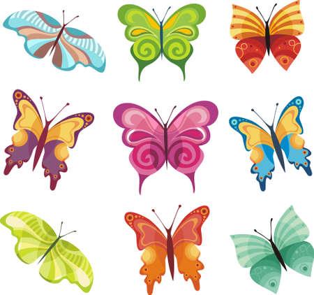 spring festival: butterfly set