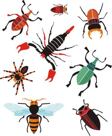 cartoon scorpion: insect set