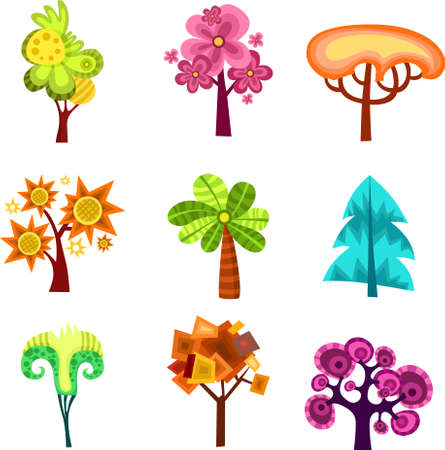 pink bushes: design tree