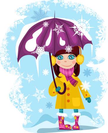 fille hiver: hiver girl Illustration