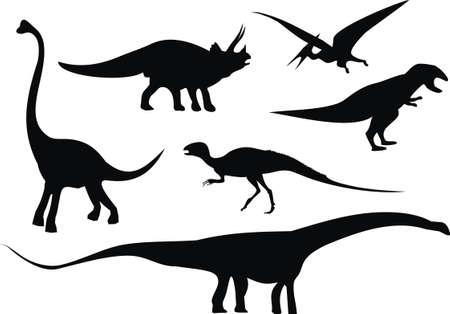prehistoric era: dinosaur set Illustration