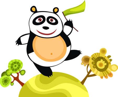 childs drawing: panda