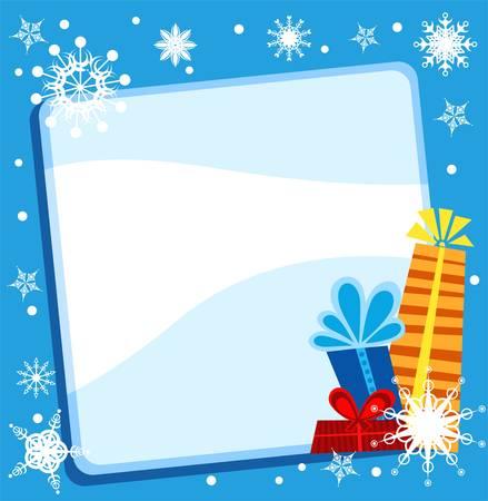 snowflacke: christmas card