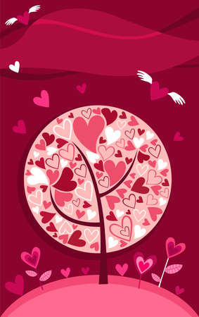 Valentine card Stock Vector - 6134091