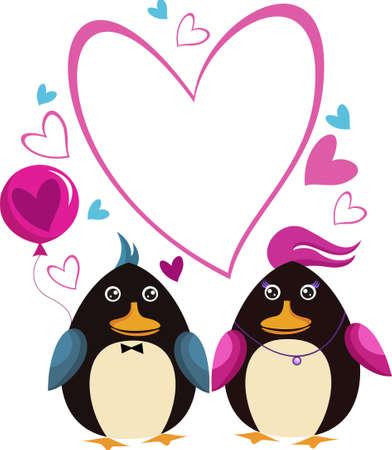 Valentine card Vector Illustratie