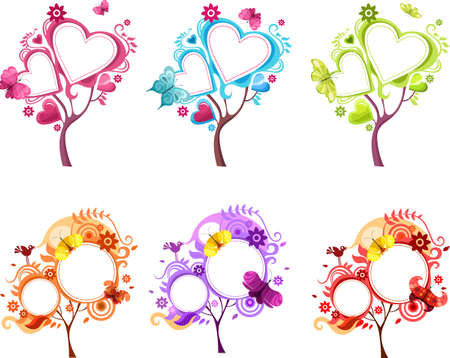butterfly flower: design tree